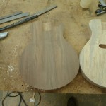Walnut Baritone Electric ukulele body