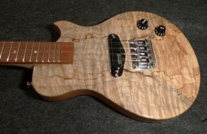 Spalted Maple Electric Ukulele (custom)